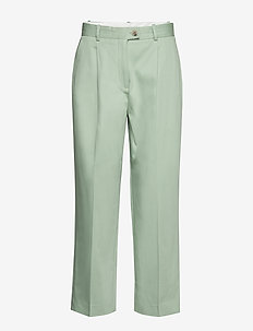 COTTON PASTEL TAPERED PANT - broeken med straight ben - sea mist mint