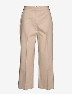 SLUB COTTON CULOTTE PANT - broeken med straight ben - sahara tan