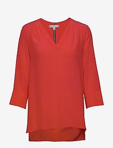 LOTTIE BLOUSE 3/4 SL - blouses à manches longues - bright vermillion