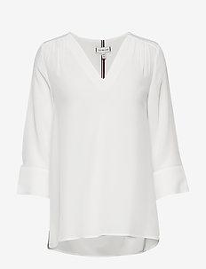 LOTTIE BLOUSE 3/4 SL - blouses med lange mouwen - ecru