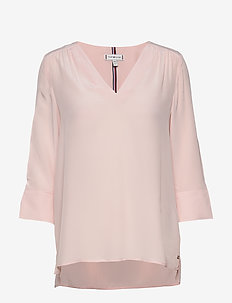 LOTTIE BLOUSE 3/4 SL - long sleeved blouses - pale pink