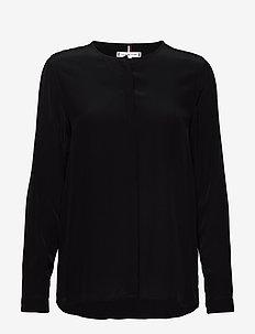 LOTTIE BLOUSE LS - blouses med lange mouwen - black