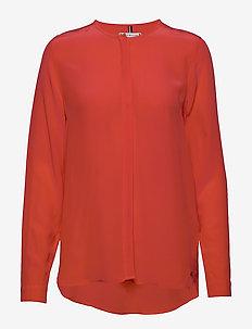LOTTIE BLOUSE LS - blouses med lange mouwen - bright vermillion