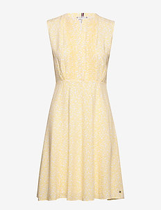 DANEE DRESS SS - midi kjoler - posy prt / sunray
