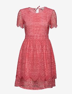 OC PECHE DRESS SS - short dresses - pink grapefruit