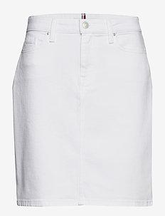 ROME STRAIGHT HW SKI - jeansowe spódnice - white
