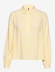 DANEE HALF PLACKET BLOUSE LS - blouses à manches longues - posy prt / sunray
