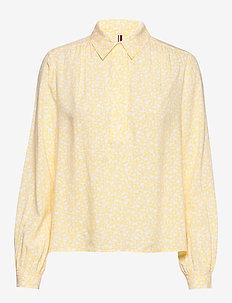 DANEE HALF PLACKET BLOUSE LS - blouses med lange mouwen - posy prt / sunray