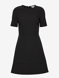 ANGELA PANEL DRESS S - short dresses - black
