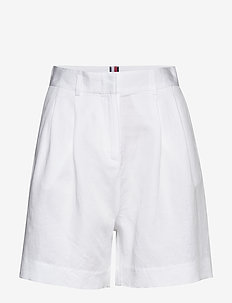 LINEN TENCEL SHORT - bermuda-shortsit - white