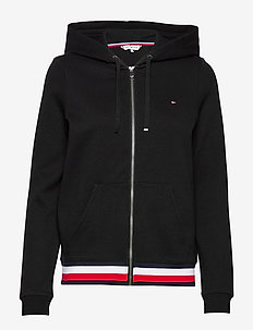 ZIP-THROUGH HOODIE - BLACK
