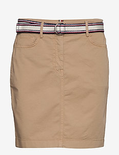 GMD COTTON TENCEL SLIM SKIRT - jupes courtes - beige