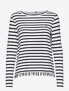 TANJA RELAXED BOAT-N - stribede t-shirts - breton stp / desert sky - whit