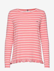 TANJA RELAXED BOAT-N - stribede t-shirts - breton stp / pink gr. - pale p