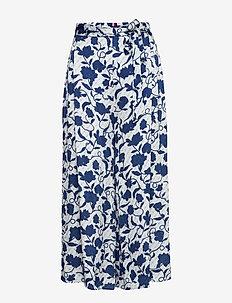 PANDORA CULOTTE - bukser med brede ben - joanna floral / blue