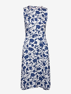 PANDORA DRESS NS - robes midi - joanna floral / blue