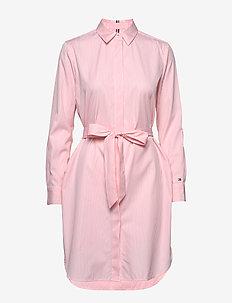 TH ESSENTIAL SHIRT DRESS LS - midimekot - yd we stp / pink grapefruit