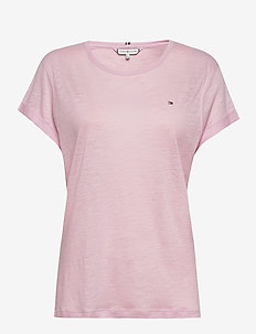 VIKKI ROUND-NK TOP SS - t-shirty - frosted pink