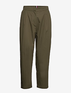 COTTON POPLIN TAPERED PANT - chinos - army green