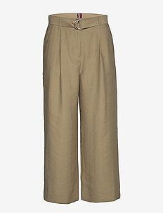 TENCEL TWILL WIDE LEG CR PANT - bukser med brede ben - surplus khaki