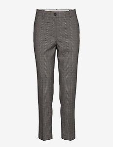 Y/D POW CHECK SLIM AL PANT - bukser med lige ben - cw check black small scale