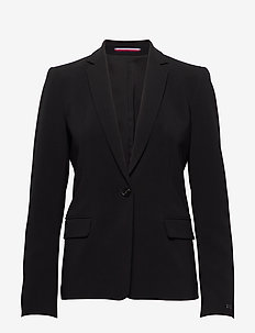 POLY TWILL SB BLAZER - tailored blazers - black