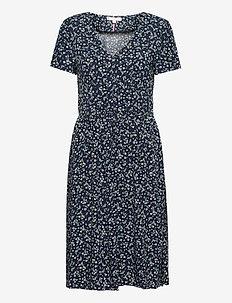 RAYA DRESS SS - midi kjoler - prairie floral desert sky