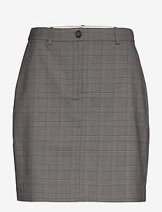 Y/D POW CHECK MINI SKIRT - jupes courtes - cw check black small scale