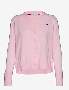 LOUA CARDI V-NK SWT LS - cardigans - pastel pink