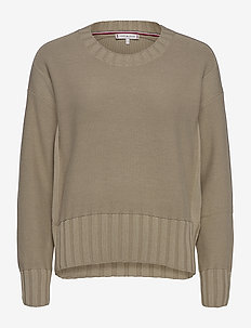 AIMY C-NK SWT LS - jumpers - surplus khaki