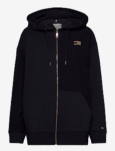 ICON RELAXED ZIP THROUGH HOODIE - hoodies - desert sky