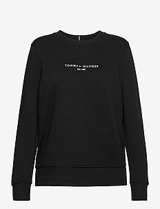 TH ESS HILFIGER C-NK SWEATSHIRT - svetarit - black