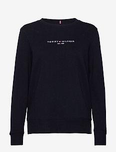 TH ESS HILFIGER C-NK SWEATSHIRT - sweaters - desert sky