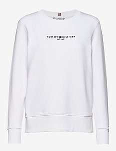 TH ESS HILFIGER C-NK SWEATSHIRT - sweatshirts - white