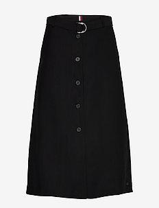 TENCEL TWILL SKIRT - midi skirts - black