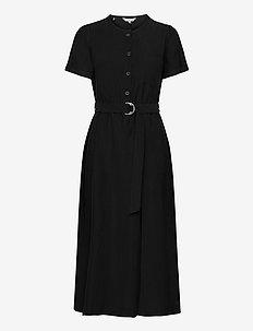 TENCEL TWILL DRESS SS - maxi jurken - black