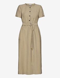 TENCEL TWILL DRESS SS - maxi jurken - surplus khaki