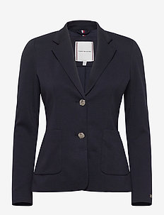 STELLA TEXTURED BLAZER LS - tailored blazers - desert sky