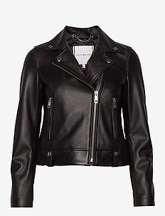 LEILA LEATHER BIKER - nahkatakit - black