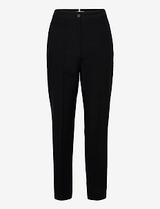 TENCEL TWILL PULL ON FL PANT - straight leg trousers - black