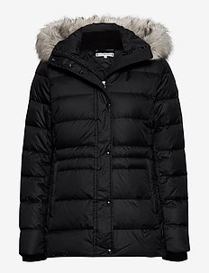 TH ESS TYRA DOWN JKT WITH FUR - gewatteerde jassen - black