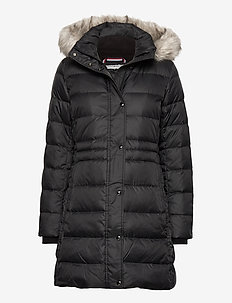 TH ESS TYRA DOWN COAT WITH FUR - gewatteerde jassen - black