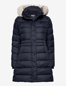 TH ESS TYRA DOWN COAT WITH FUR - padded coats - desert sky
