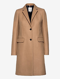 TH ESS WOOL BLEND CLASSIC COAT - manteaux en laine - classic khaki