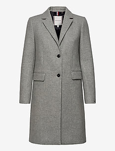 TH ESS WOOL BLEND CLASSIC COAT - uldfrakker - light grey heather