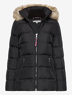 CL BAFFLE DOWN JKT WITH FUR - down- & padded jackets - black