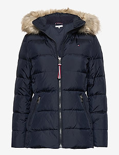 CL BAFFLE DOWN JKT WITH FUR - down- & padded jackets - desert sky
