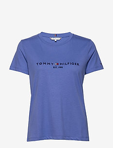 TH ESS HILFIGER C-NK REG TEE SS - t-shirts - iris blue