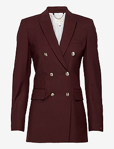 ICON WOOL DB BLAZER - tailored blazers - deep burgundy