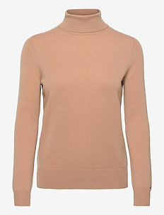 RECYCLED CASHMERE ROLLNK SWEATER - poolopaidat - timeless camel
